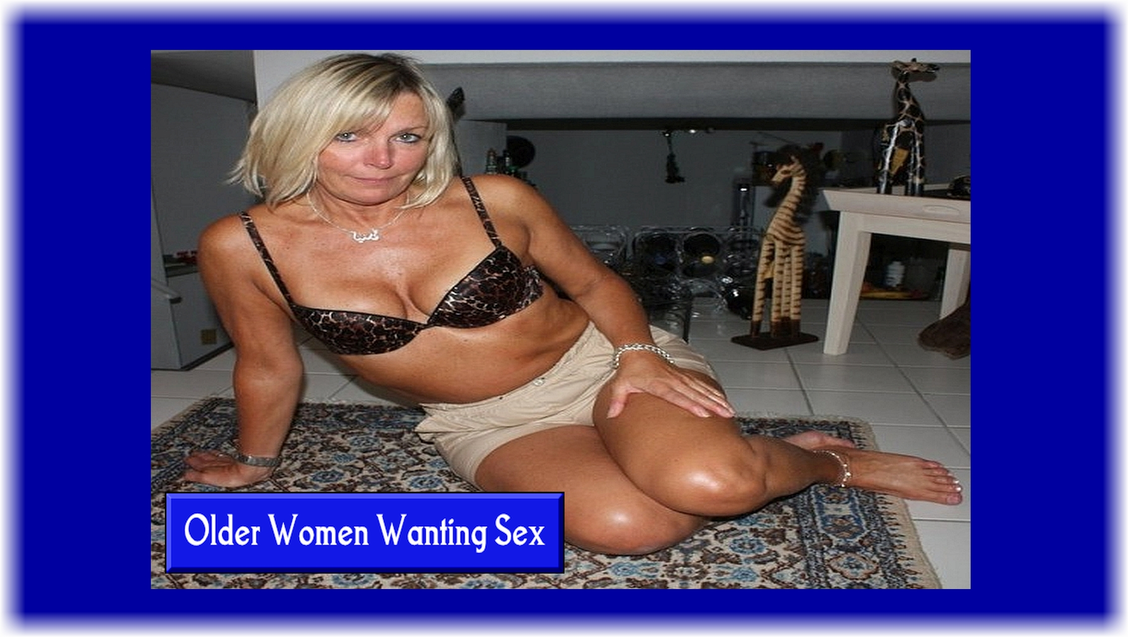Mujeres mayores que quieren tener sexo